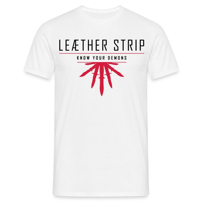 Leaether Strip - Know Your Demons : T-Shirt - white