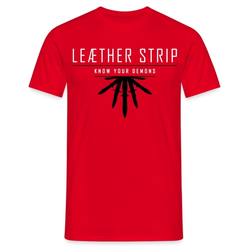 Leaether Strip - Know Your Demons : T-Shirt - red - Men's T-Shirt