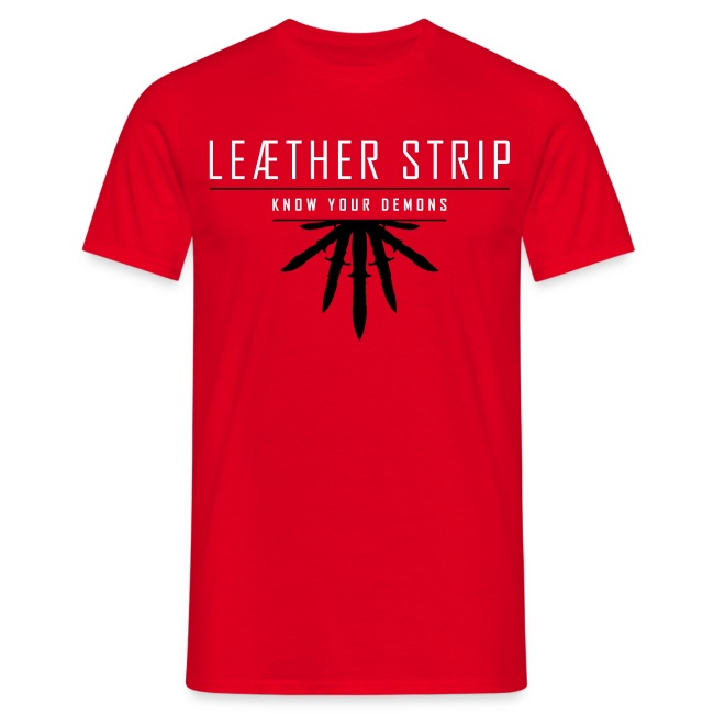 Leaether Strip - Know Your Demons : T-Shirt - red