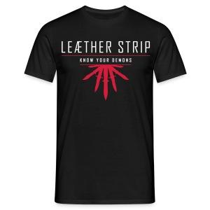 Leaether Strip - Know Your Demons : T-Shirt - black - Men's T-Shirt
