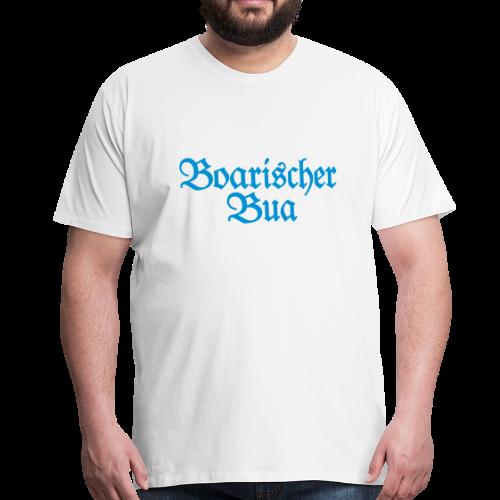 Boarischer Bua T-Shirt (Weiß/Blau) - Männer Premium T-Shirt