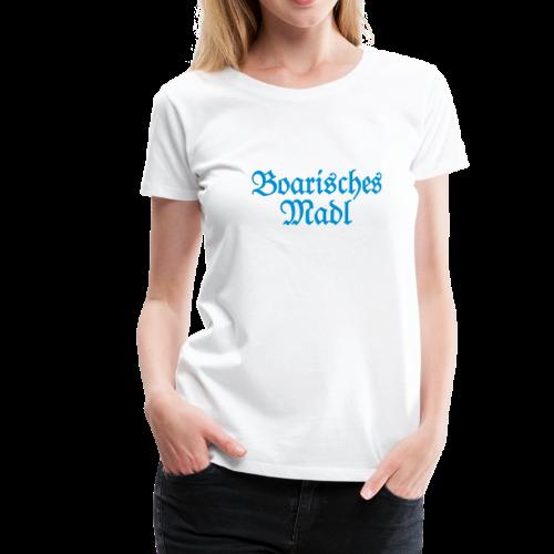 Boarisches Madl T-Shirt (Weiß/Blau) - Frauen Premium T-Shirt