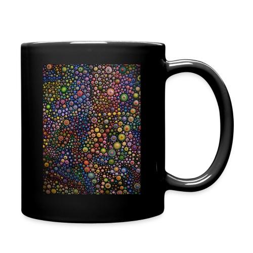 Schwarze Tasse mit Punktedruck - Tasse einfarbig
