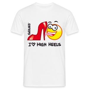 I Love High Heels - Männer T-Shirt