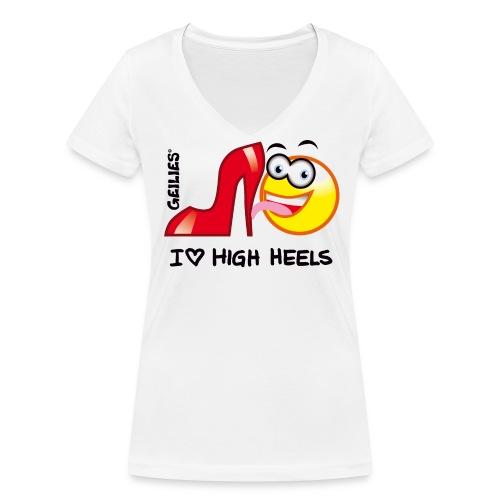 I Love High Heels - Frauen Bio-T-Shirt mit V-Ausschnitt von Stanley & Stella