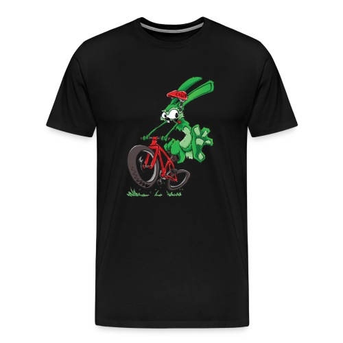 Lapin sur vélo - T-shirt Premium Homme