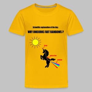 T-Shirt ado (teen) Unicorns and Rainbows - Teenage Premium T-Shirt