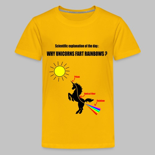 T-Shirt ado (teen) Unicorns and Rainbows - Teenage Premium T-Shirt