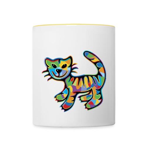 Color Tabby Tasse - Tasse zweifarbig
