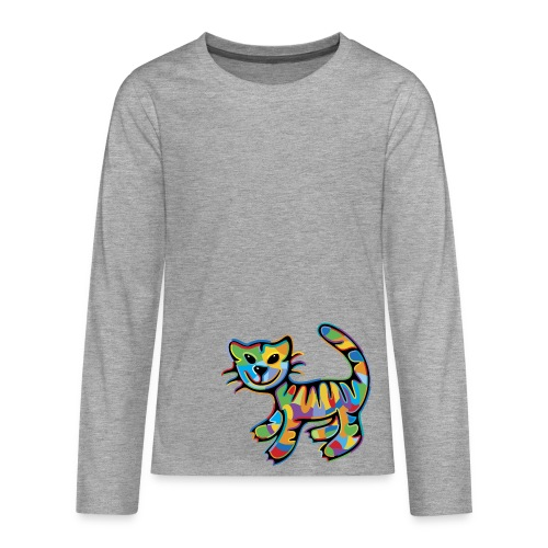 Color Tabby Teenager Langarmshirt - Teenager Premium Langarmshirt