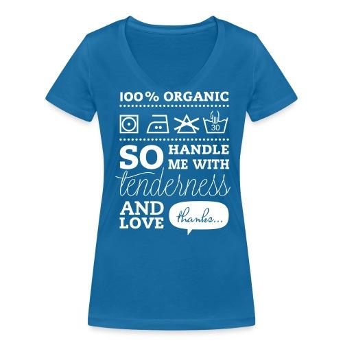 Girlie T-shirt met leuke opdruk 100% organic - Vrouwen bio T-shirt met V-hals van Stanley & Stella
