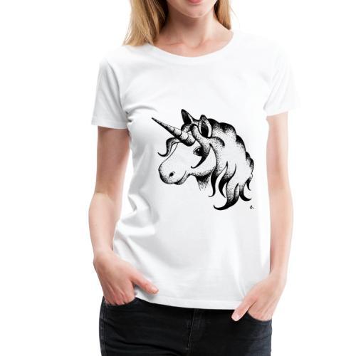 T-Shirt Femme Licorne - T-shirt Premium Femme
