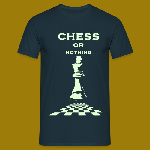 T-shirt classica Uomo Chess or Nothing King Fluo - Maglietta da uomo