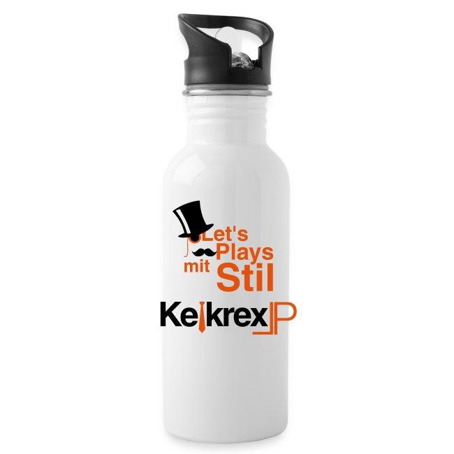 Logo-Fantrinkflasche
