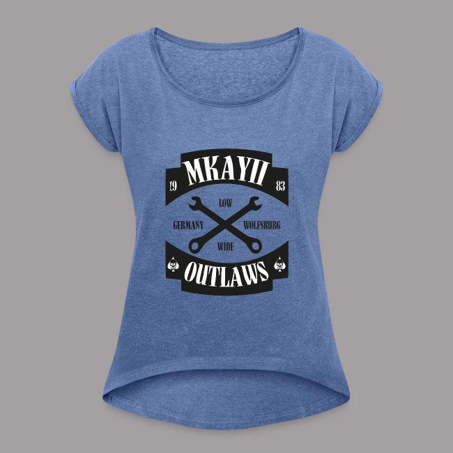dIIb MkII Outlaws T-Shirt mit gerollten Ärmeln Woman