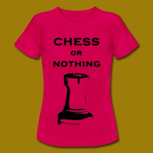 T-shirt classica Donna Chess Or Nothing Rook - Maglietta da donna
