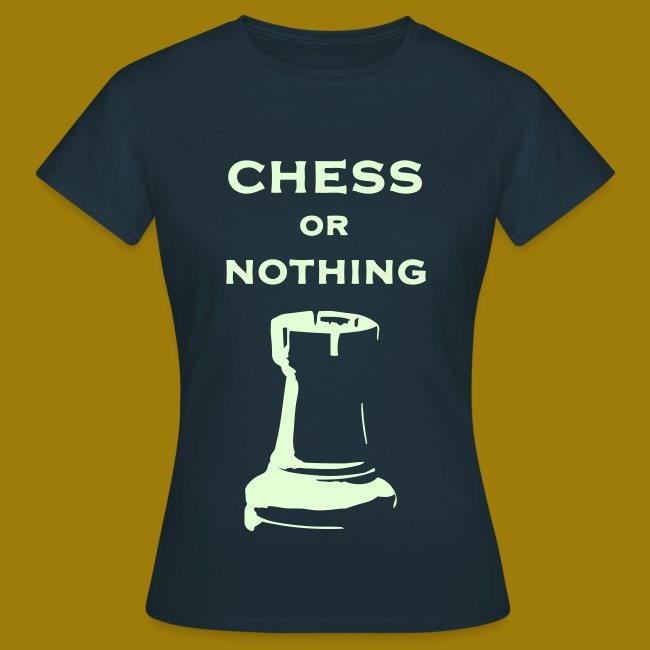 T-shirt classica Donna Chess Or Nothing Rook Fluo