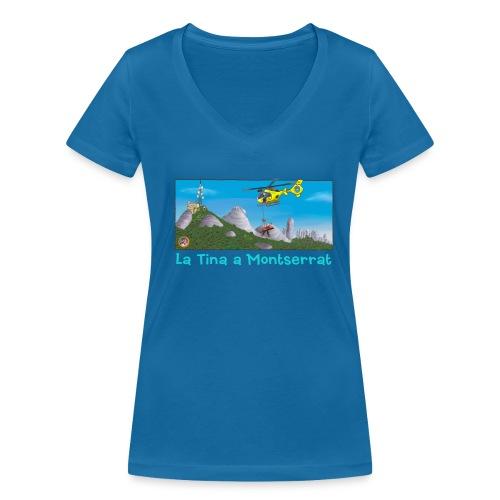 LA TINA HELICÒPTER RESCAT GRAE (cat) - Camiseta ecológica mujer con cuello de pico de Stanley & Stella