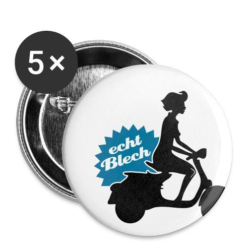 Echt Blech Buttons im 5-er Pack - Buttons klein 25 mm