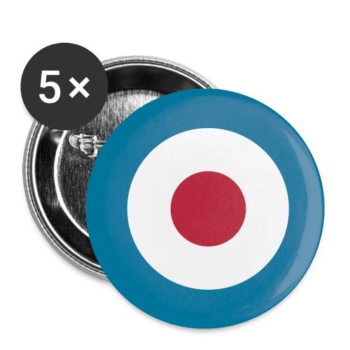 Mod Target Buttons im 5-er Pack - Buttons klein 25 mm