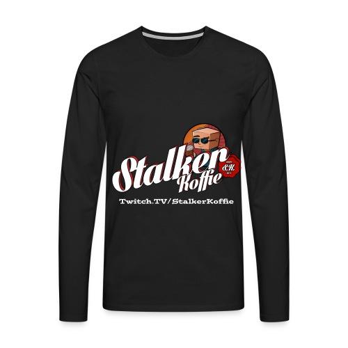Men's Premium Longsleeve Shirt - Men's Premium shirt with long sleeves and with original Stalkerkoffie logo.