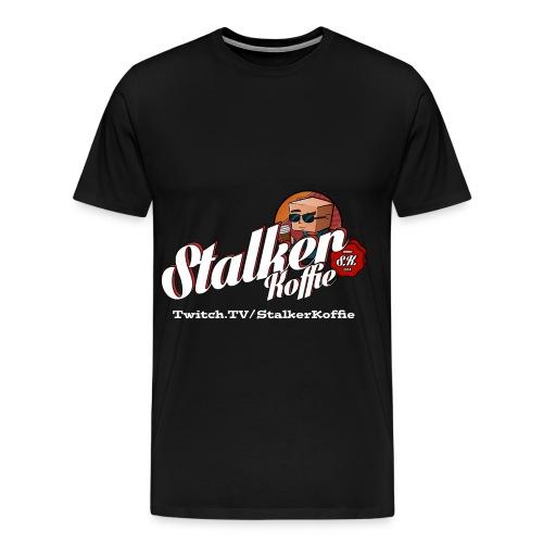 Men's Premium T-Shirt - Men's Premium T-shirt with original Stalkerkoffie logo.