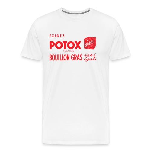 POTOX Bouillon Gras Adulte - T-shirt Premium Homme