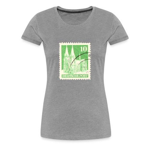 Köln Briefmarken (1948 Grün) S-3XL T-Shirt - Frauen Premium T-Shirt