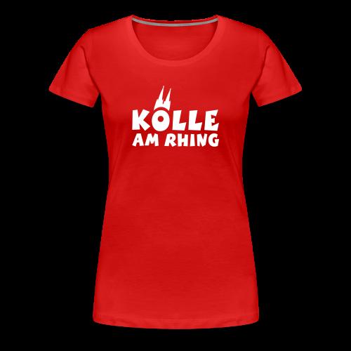 Kölle am Rhing T-Shirt (Damen Rot/Weiß) - Frauen Premium T-Shirt
