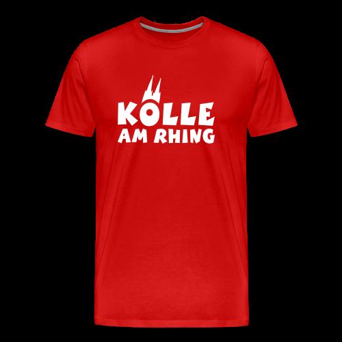 Kölle am Rhing T-Shirt (Herren Rot/Weiß) - Männer Premium T-Shirt