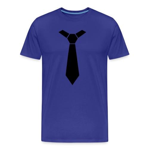 t-shirt homme bleu cravatte - T-shirt Premium Homme