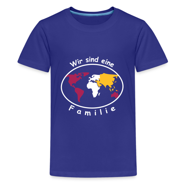 TIAN GREEN Shirt Teen - Wir sind eine Familie