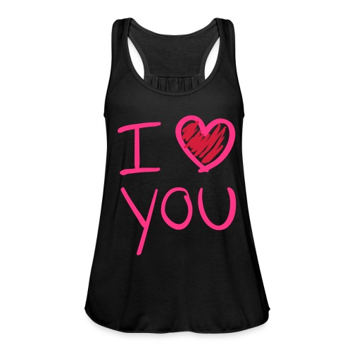 i love u black woman - Vrouwen tank top van Bella