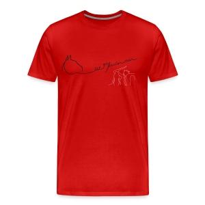 MPS Logoschriftzug & The Path...- Women 3XL Shirt (Men Fit) - Print: Black Glitter/Rose Digital - Männer Premium T-Shirt