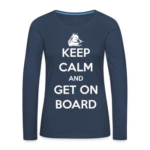 Langarm-Shirt Damen, Front, Segelschiff - Frauen Premium Langarmshirt