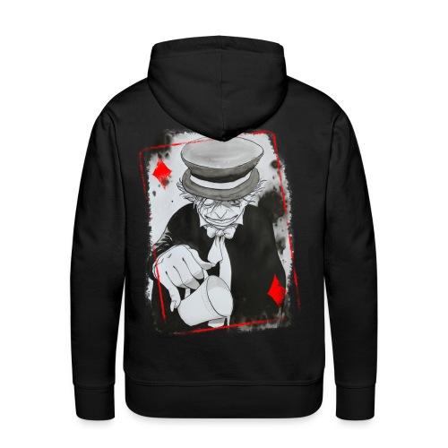 Sweat 2 Carte Chapelier Homme - Sweat-shirt à capuche Premium pour hommes