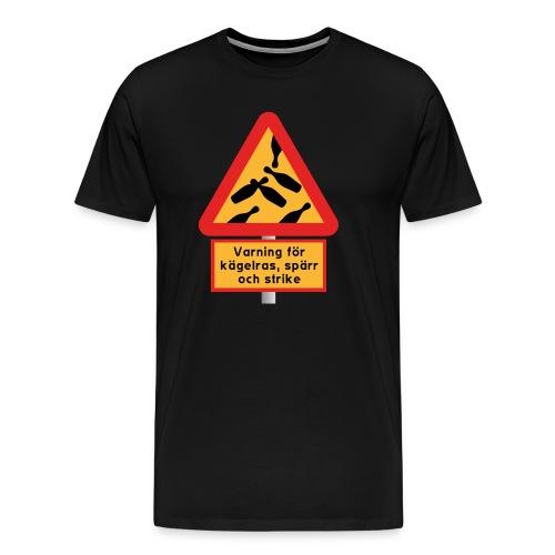 Varning för fallande käglor - Premium-T-shirt herr