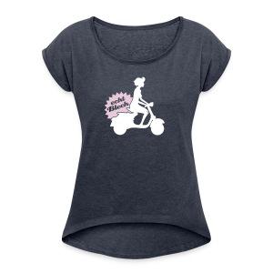 Echt Blech Girlie Shirt - Frauen T-Shirt mit gerollten Ärmeln