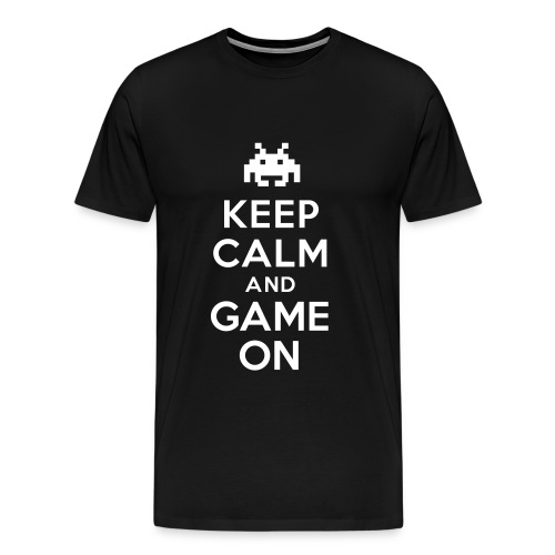 Mens Keep Calm Game T-Shirt - Men's Premium T-Shirt