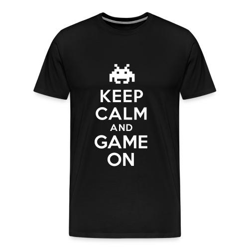 Mens Keep Calm Game T-Shirt - Men's Premium T-Shirt