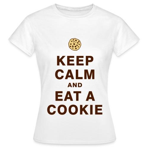 Tee-shirt ''Garde ton calme et mange un/des cookie'' - T-shirt Femme