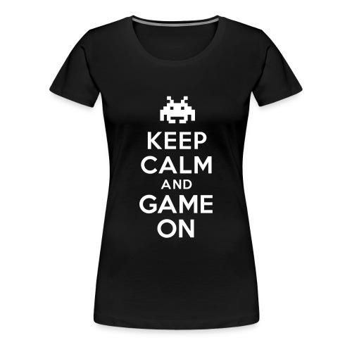 Womens Keep Calm Game T-Shirt - Women's Premium T-Shirt