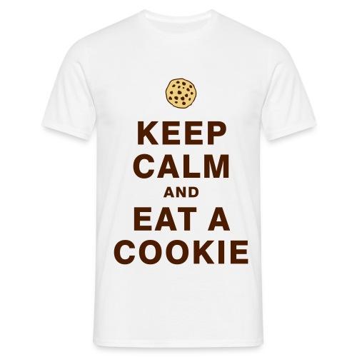 Tee-shirt ''Garde ton calme et mange un/des cookie'' - T-shirt Homme
