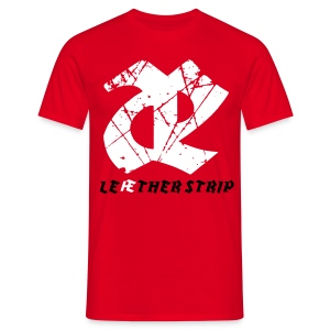 Leaether Strip - Logo 1 : T-Shirt - red - Men's T-Shirt