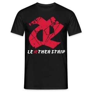 Leaether Strip - Logo 1 : T-Shirt - black - Men's T-Shirt