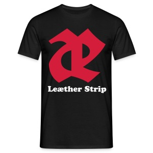 Leaether Strip - Logo 2 : T-Shirt - black - Men's T-Shirt