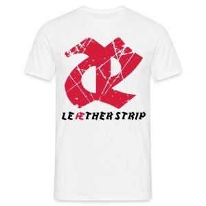 Leaether Strip - Logo : T-Shirt - white - Men's T-Shirt