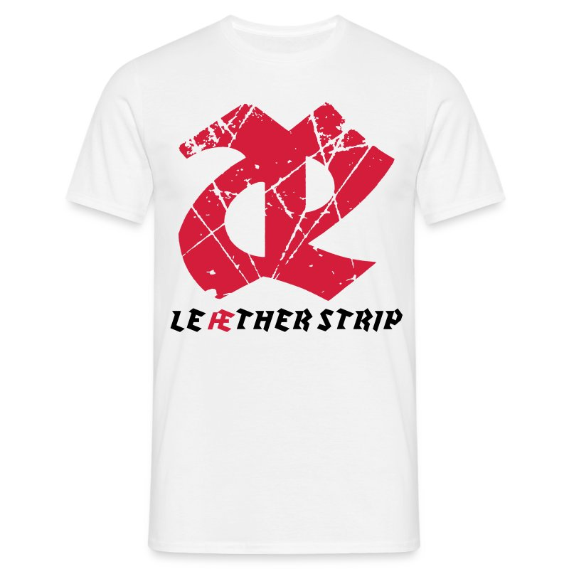 Leaether Strip - Logo : T-Shirt - white - Men's T-Shirt