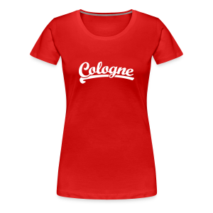 Cologne Team T-Shirt (Damen Rot/Weiß) - Frauen Premium T-Shirt