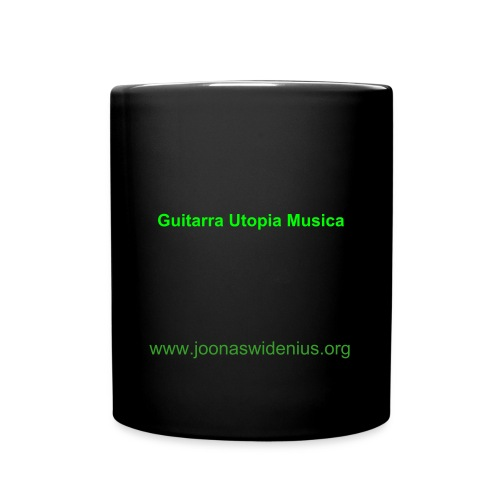 Guitarra Utopia Musica coffee cup Black - Yksivärinen muki